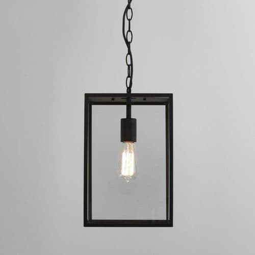Astro 1095015 Homefield Outdoor Pendant Light Black and Glass